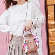 Women Litchi Pattern Round Shoulder Messenger Handbags New Female PU Leather Crossbody Casual Small Satchel Bags designer bags