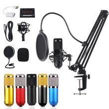 Microfone bm 800 Studio mikrofon do Karaoke dźwięk komplet kart microfone bm800 nagrywanie pojemnościowe mikrofon do komputera PC