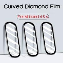 עבור Xiaomi mi band 6 5 4 מסך מגן סרט 3D מעוקל עבור miband 6 5 4 חכם להקת רצועת השעון 6 רך מגן סרט לא זכוכית
