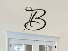 DreamArts Initial Wall Decal Single Letter Monogram Wall Stickers Peel and Stick Bedroom Decor Kids Room Decor Room Decoration personalized initial letter wall decal monogram room decor cinderella carriage princess design wall sticker home decor ay0102