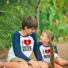 Tshirt Boys Long-Sleeve Girls Tops Matching Kids Children Casual Autumn Tee Look Family
