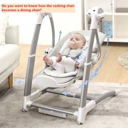 Multifunktions Kind esszimmer stuhl 2 in 1 baby schaukel stuhl elektrische baby artefakt baby schaukel blau stuhl kind esszimmer stuhl