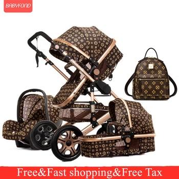 Baby Stroller 3 in 1 Lightweight Stroller Baby Car High Landscape Stroller Baby Pram Strollers For 0-36 Months Baby Trolley