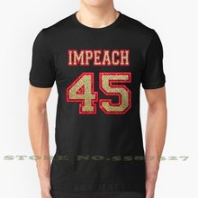 Impeach 45 Gold Edition Kühl Design Trendy T-Shirt T Gold Glitter Impeach 45 Patriot Farben Team Fußball Jersey Sport(China)