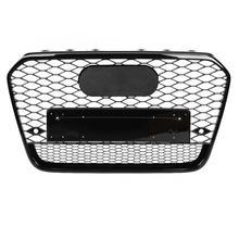 1 pc para rs6 estilo frente do carro esporte hex malha favo de mel capa grill preto para audi a6/s6 c7 2012 2013 2014 acessórios do carro novo