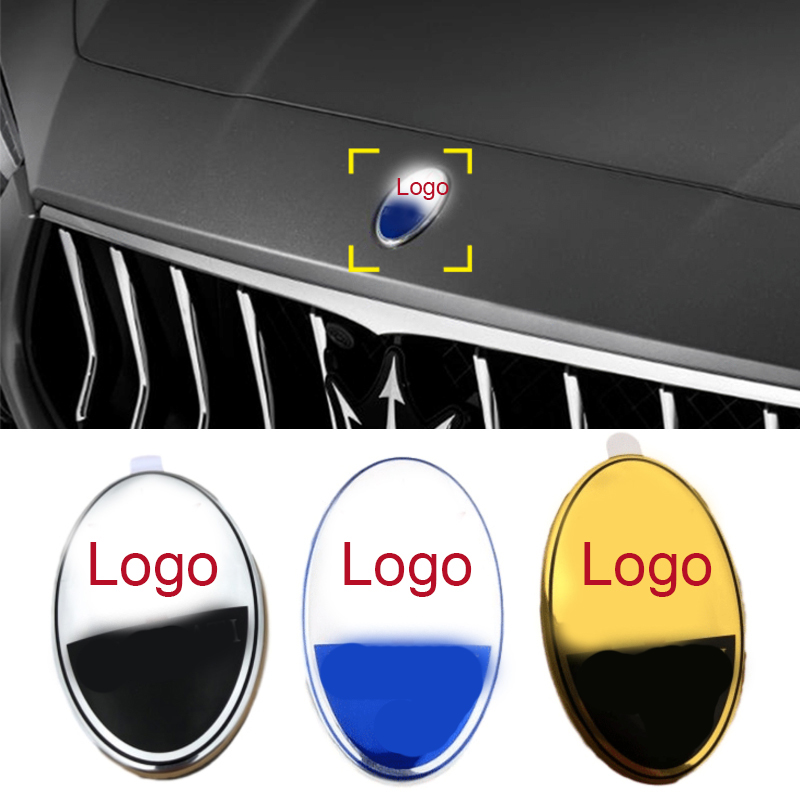 Car Front Hood Emblem Badge Decals for Maserati Levante Quattroporte Ghibli Gran Turismo Cabrio GC GT Car Stickers Styling
