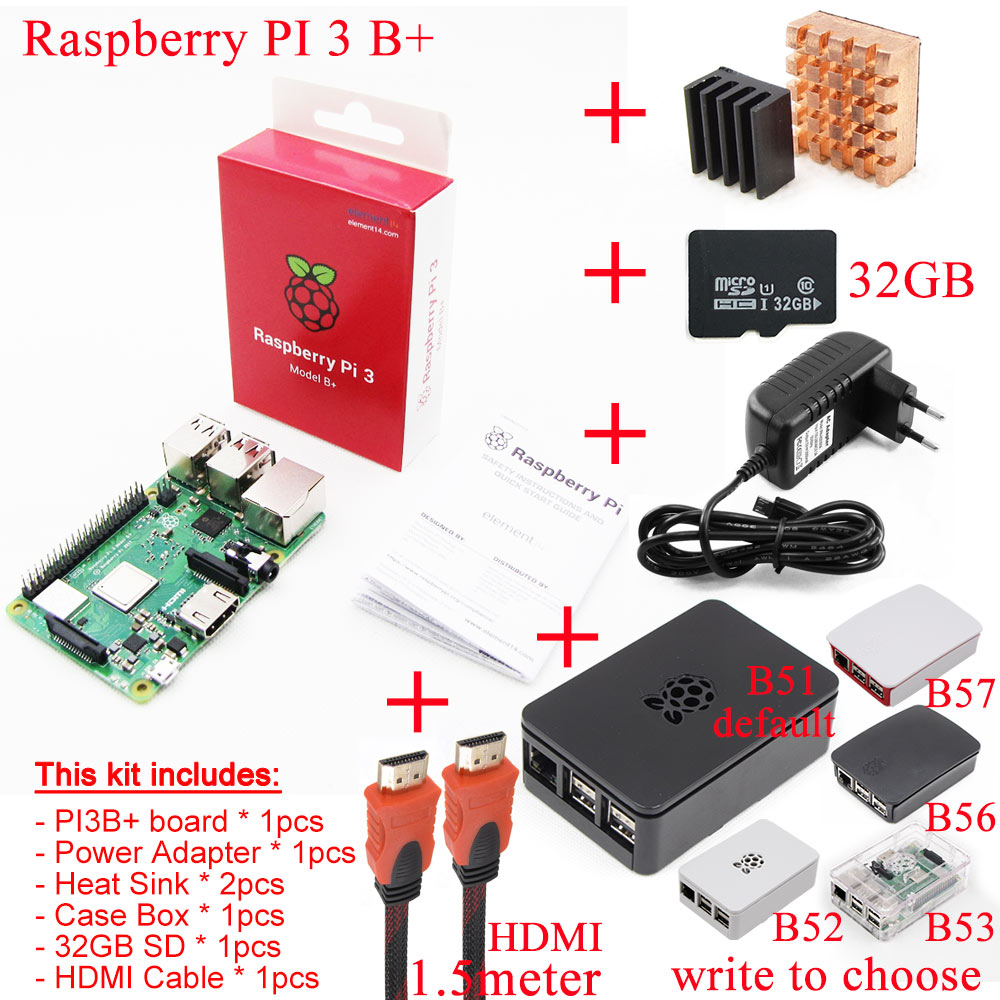 2016 NEW Original Raspberry Pi 3 Model B Board 1GB LPDDR2 BCM2837 64-bit Quad-Core 1.2 GHz with WiFi&Bluetooth manguera expandible