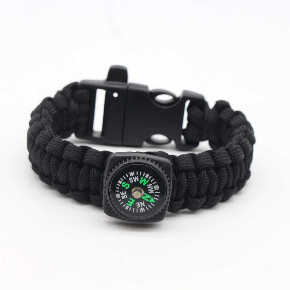 EDC Emergency Rope Reflective Paracord Military Bracelets Escape Wrist Strap