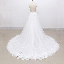 Vestido de casamento removível saia de tule 2m elegante vestido de casamento saia de tule