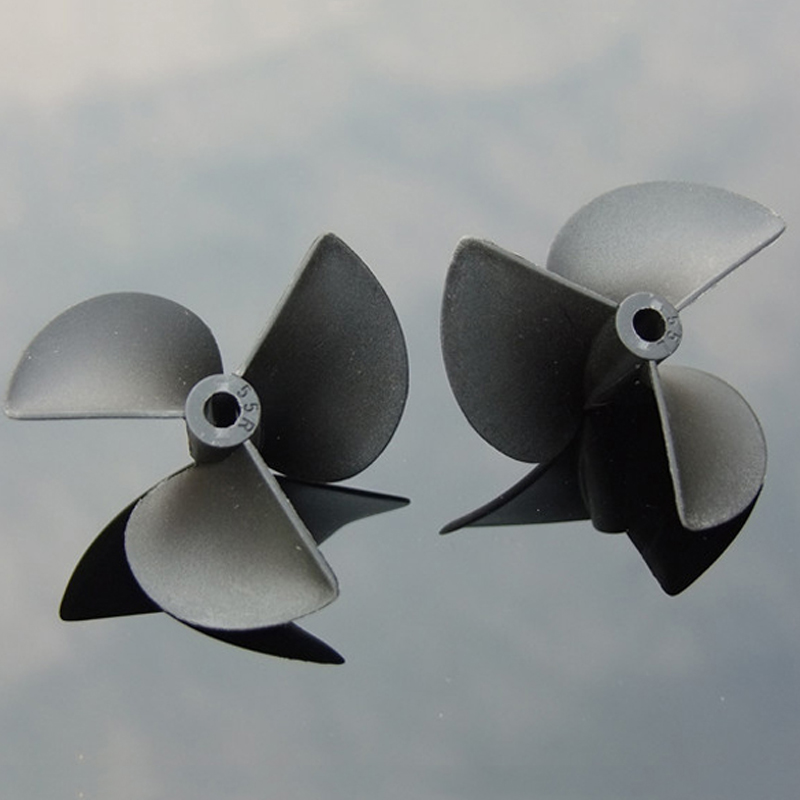 1 Pair 3 Blades Nylon Propeller 3mm//4mm//4.8mm Shaft For RC Boat Palstic Paddles