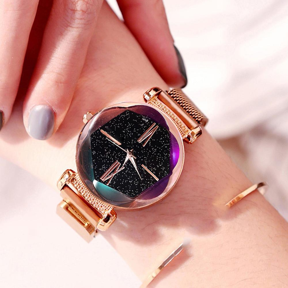 Women's Magnet Watch Starry Sky Women Watches Luxury Fashion Diamond Ladies Watch Quartz Wristwatch Reloj Mujer Watch For Women