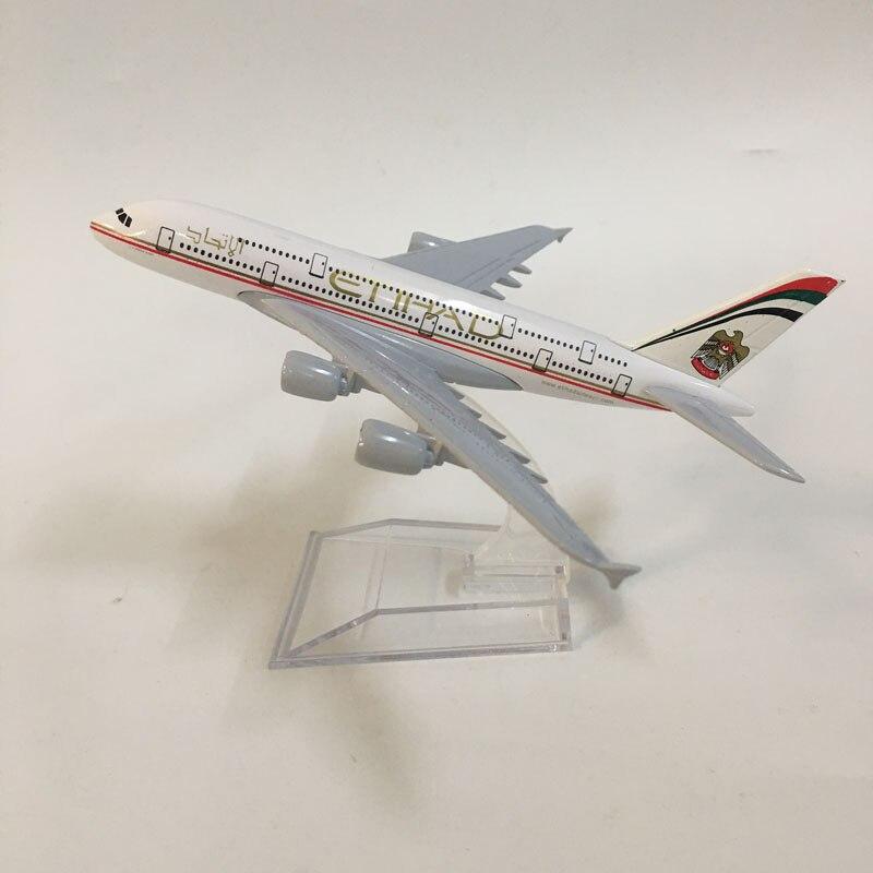 JASON TUTU 16cm Plane Model Airplane Model Etihad A380 Aircraft Model Diecast Metal 1:400 Airbus A380 Airplanes Model Plane Toy
