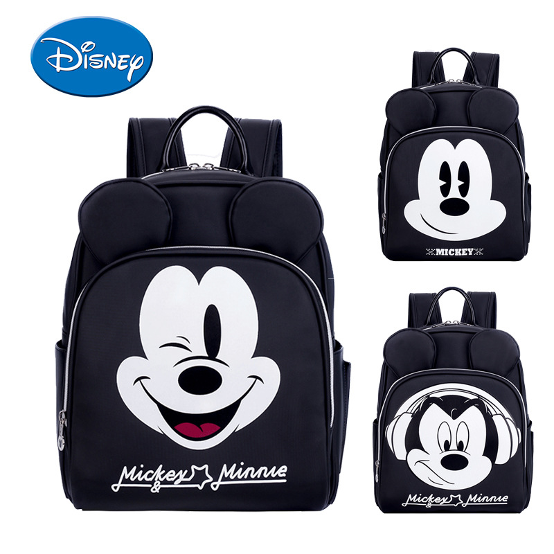 Disney Mommy Backpack Baby Bags For Mom Multifunctional Handbags For Moms Minie Mouse Mickey Bag Mochila Mama Maternal Wet Dry