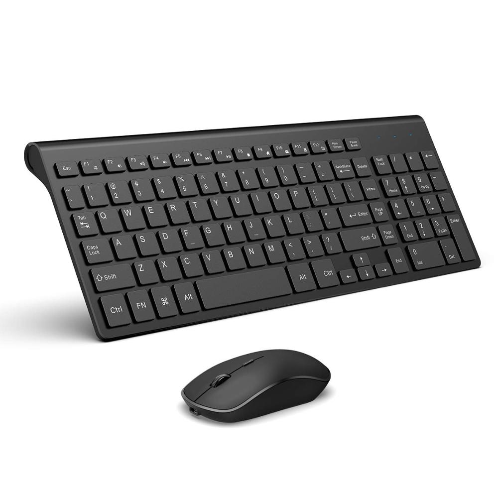 UK Ultra Slim Thin Wireless Keyboard+2.4GHz Mouse Combo For MAC PC White