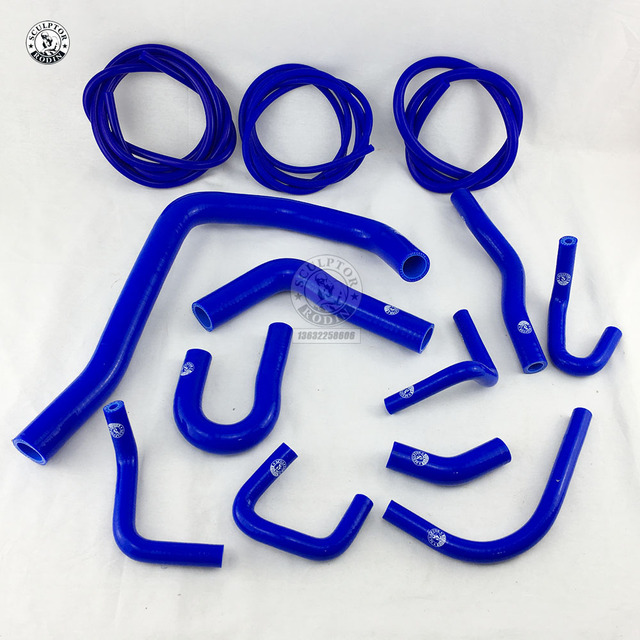 طقم خرطوم المشع من السيليكون + خرطوم مكنسة عدة ل 88 91 هوندا سيفيك/CRX EE EF / CR X قاعدة/DX/ HF/Si(13 قطعة)