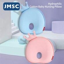 Jmsc bebê travesseiro forma almofada da criança cabeça plana proteger recém-nascido infantil sono moldar anti rolo pescoço proteção para 0-6 meses