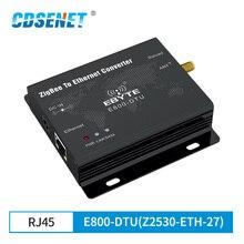 CC2530 ZigBee Ethernet Wireless Transceiver โมดูล 27dBm TCP UDP ยาว Ad Hoc Network 500mW เครื่องส่งสัญญาณและตัวรับสัญญาณ
