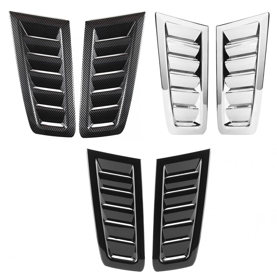 Acouto ABS Bonnet Vent Cover,Car ABS Bonnet Air Vent Modified Accessory Fits for Focus RS MK2 Electroplating