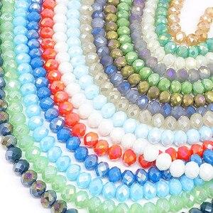 TTBEADS 6x4 мм цвет усеяны искусственными драгоценными камнями; Rondell бусины колесо граненые стеклянные бусины для самостоятельного изготовления ювелирных изделий ювелирных аксессуаров выводы|Бусины|   | АлиЭкспресс