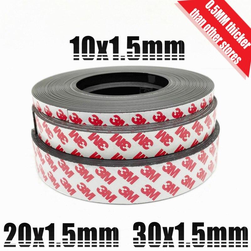 Starke Flexible Magnet Streifen Selbstklebende Magnetband für werkzeug finishing Gummi Magnet Band dekorative kühlschrank 20 30cm