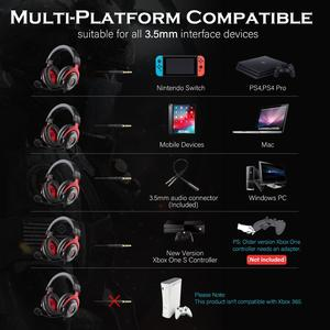 Image 2 - EKSA Gaming Headphones Wired Gamer Headset  3.5mm Over Ear Headphones With Noise Cancelling Mic For PC/Xbox/PS4 One Controller