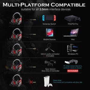 Image 2 - Eksa有線ゲーマーヘッドセット3.5ミリメートル耳のヘッドフォンでノイズキャンセルマイクpc/xbox/PS4 1コントローラ
