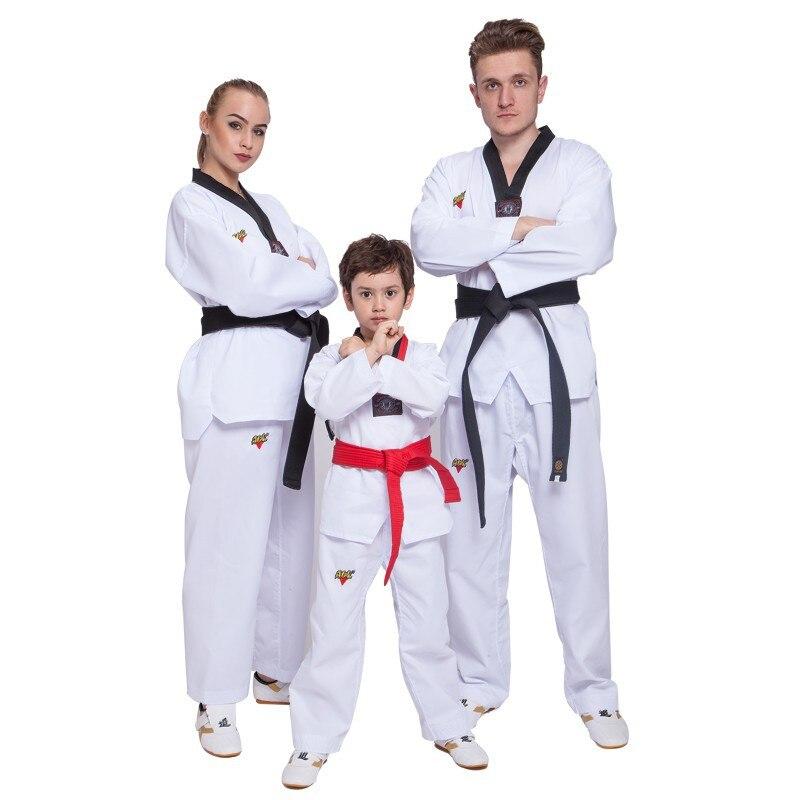 Taekwondo Basic Uniform V-Neck MMA Martial Arts Karate Jujitsu Gym School Academy Match Poomse Training Uniforms