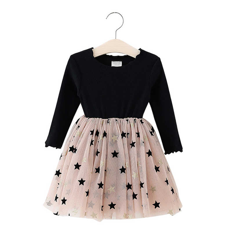 Outono de 2019 criança crianças princesa vestido de manga longa crianças meninas do bebê vestido de inverno vestidos de festa para meninas traje tutu