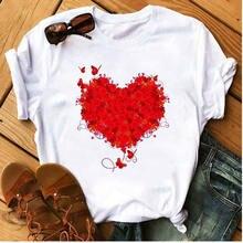 Женская Повседневная Милая футболка с коротким рукавом женская