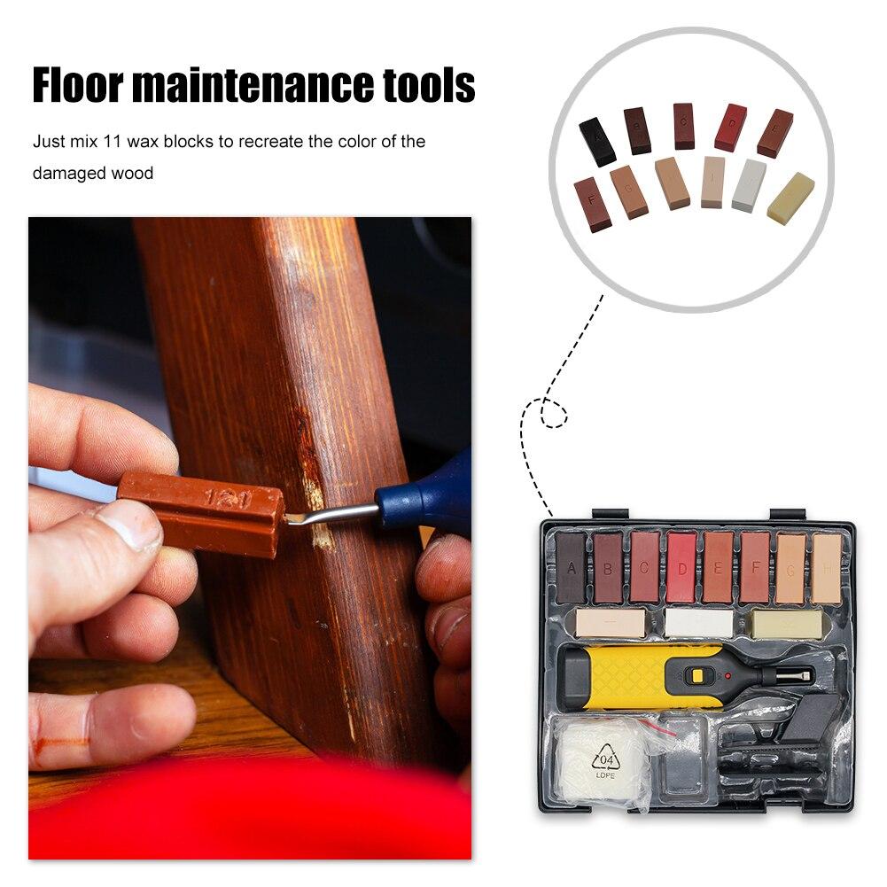 Laminate Floor Repair Kit Furniture Scratch Fix Wax System Floor Worktop Sturdy Casing Chips Scratches Mending Tool Set