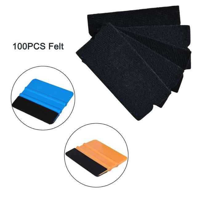 EHDIS 100 Uds película de vinilo de fibra de carbono revestimiento para coche escurridor de tela de borde de fieltro ventana tintes herramienta accesorios de coche pegatinas herramienta