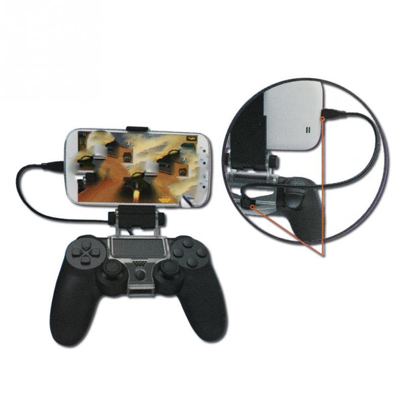 Mobile Phone Clip Holder Handle Game Stand for DualShock PS4 4 Controller Gamepad Adjustable