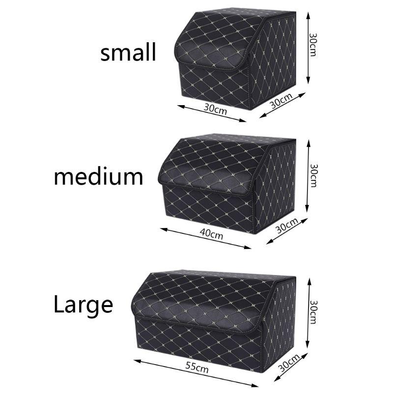 Multipurpose Collapsible Vehicle Car Trunk Storage Organizer Box With Lid Portable Storage Box Car Trunk Organizer Case S/M/L