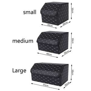 Organizer-Box Lid Car-Trunk-Storage Collapsible Portable Multipurpose with Case M/L Vehicle