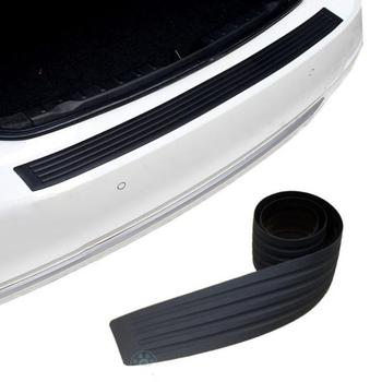 HOT!! Car Accessories Car Trunk Door Sill Plate Protector Rear Bumper Guard Rubber Mouldings Pad Trim Cover Strip Car Styling image