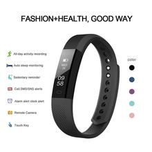 ID 115 Touch Screen Smart Bracelet Blood Pressure Heart Rate Monitoring Outdoor Fitness Tracker Pedometer Sport Bracelet