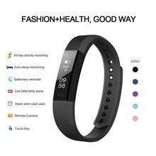Id 115 tela de toque pulseira inteligente pressão arterial monitoramento da freqüência cardíaca ao ar livre rastreador fitness pedômetro esporte pulseira