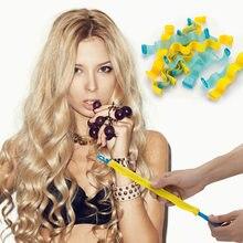 30cm/50cm rolos de cabelo durável espiral penteado rolo varas diy caracol forma modelador de cabelo onda cabelo styler
