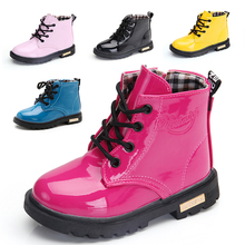 2019 Girls Leather Winter Boots Boys Shoes Spring Autumn PU Leather Children Boots Fashion Toddler Kids Boots Warm Winter Boots fashion girls children short boots kids leather boots high heels winter warm shoes girls children kids princess boots size 27 38