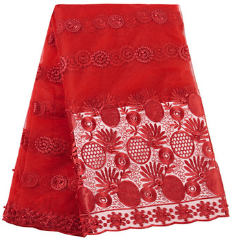 Latest African Laces Fabrics Embroidered French Lace Fabric Beaded Tulle Nigerian Lace Fabric 2019 High Quality Lace For Women latest african laces fabrics embroidered african tulle french lace fabric with stones 2019 african french net lace