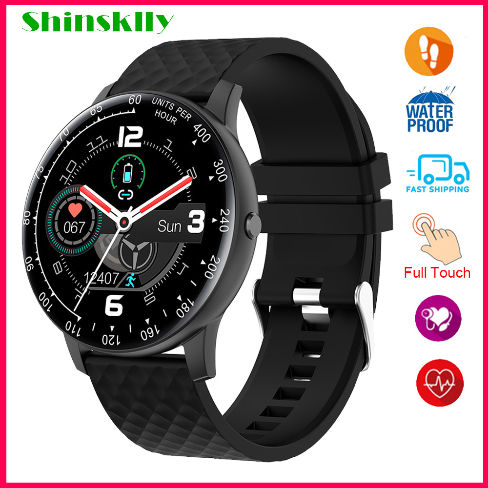 2020 Smart Watch Men Women Blood Pressure Fitness Tracker Smartwatch IP68 Waterproof Full Touch Sport Watches For Android IOS