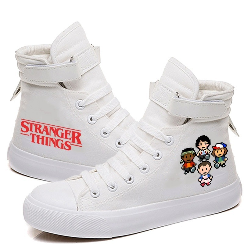 Strange Things Print High-Top Canvas Shoes 2020 Fashion Casual Breathable Leisure Shoe Sneakers Vulcanize Shoes For Women/Men