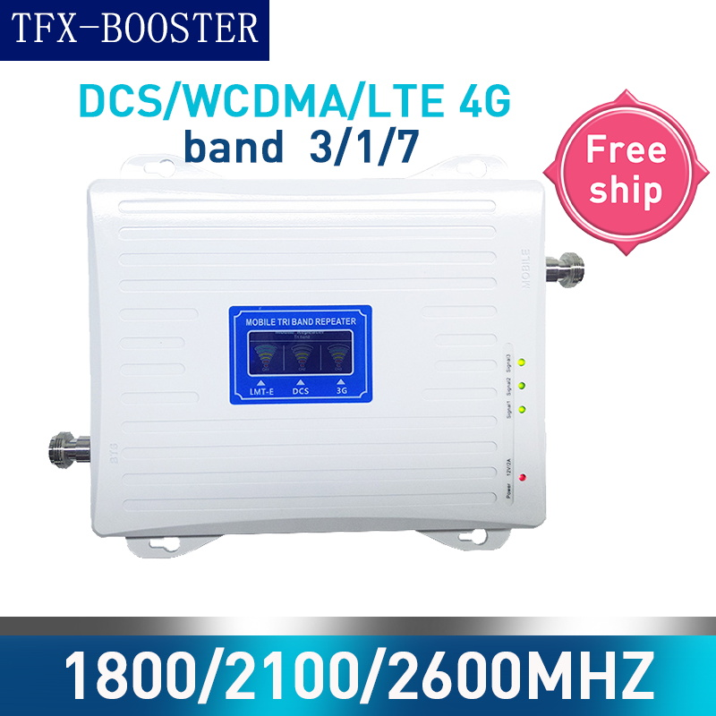 TFX-BOOSTER WCDMA 3G LTE 4G 1800/2100/2600MHZ Cell Phone Signal Booster 2G 3G 4G LTE DCS 2600MHZ Repeater GSM WCDMA 1800/2100MHZ