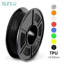 Sunlu tpu filamento flexível 1.75mm alta resiliência flexível filamento da impressora 3d tpu 0.5kg transporte rápido