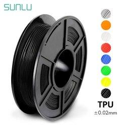 SUNLU TPU Flexible Filament 1.75MM High Resilience Flexible TPU 3d Printer Filament 0.5kg Fast Shipping