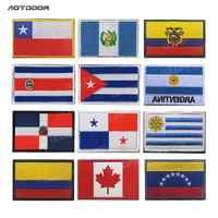 Banderas de países de América, pegatinas de rayas de Costa Rica, Chile, Cuba, Panamá