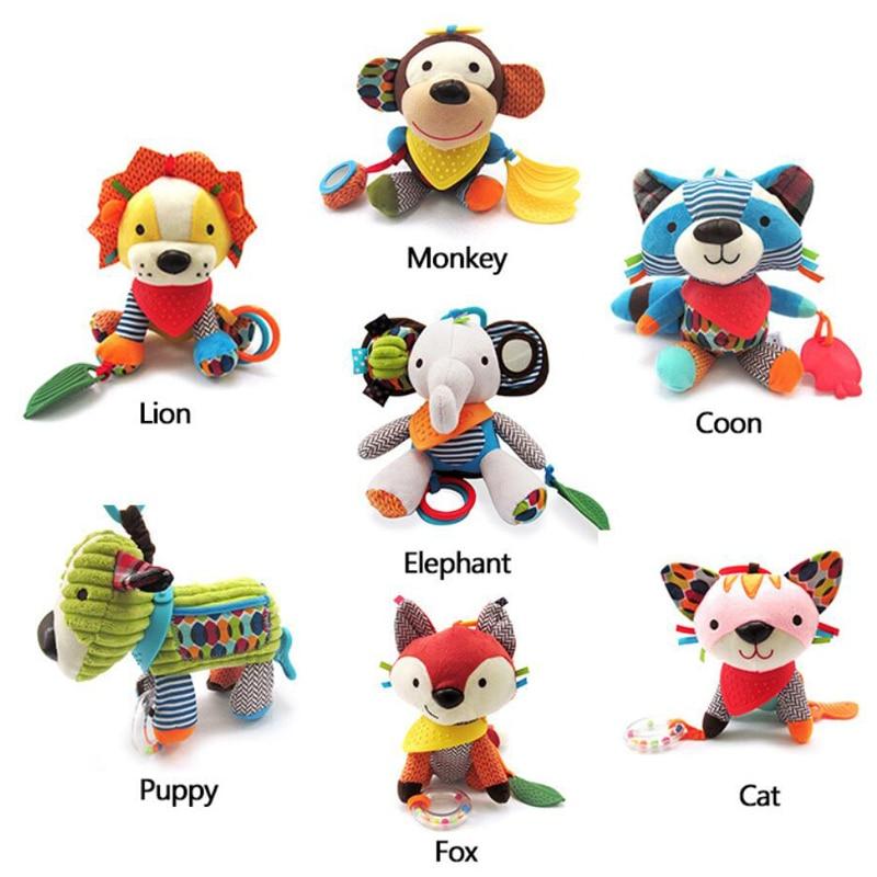 Новые детские погремушки в виде животных, Детские колокольчики, подвесная Мобильная погремушка, ветровые игрушки, ручные палочки, игрушки