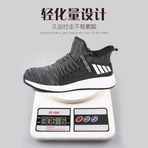 Image 3 - Scarpe da lavoro con punta in acciaio stivali indistruttibili da uomo calzature protettive traspiranti leggere e leggere