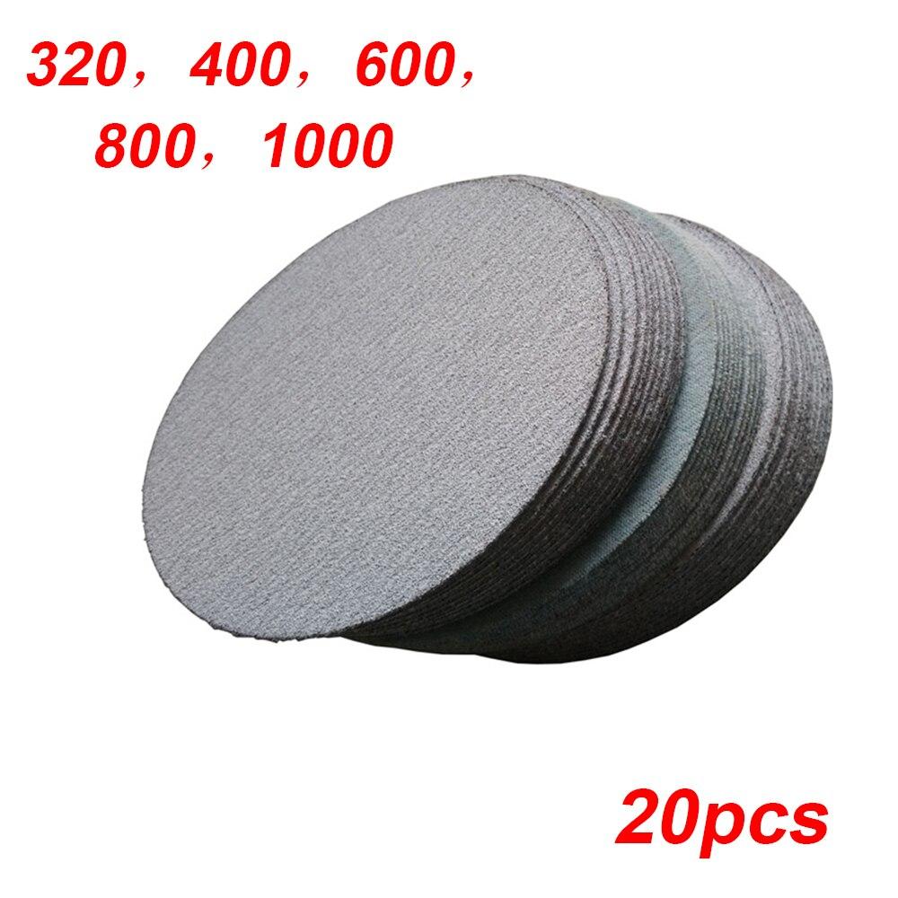 20pcs 4 Inch 100mm Round Sandpaper Disc Grit 320/400/600/800/1000 Polishing Wood Metalworking Finishing