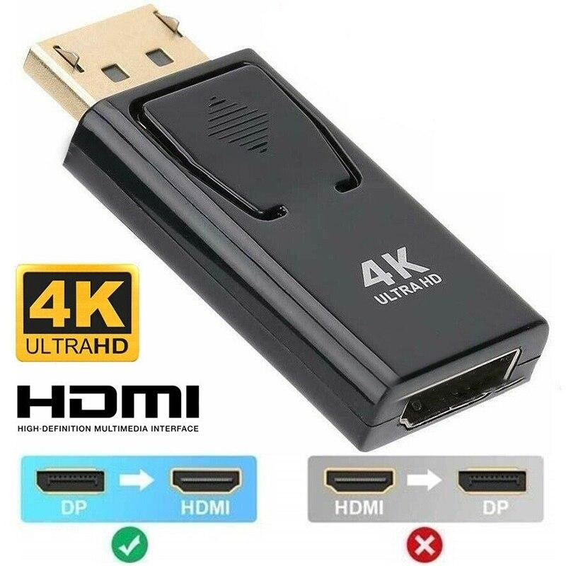 DP к HDMI Max 4K/2160P порт дисплея DP папа к HDMI Женский адаптер Черный Высокое качество Dp к Hdmi конвертер для HDTV ПК